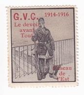 Vignette Militaire Delandre - G.V.C. Le Devoir Avant Tout - Réseau De L'est 1914 1916 - Vignettes Militaires