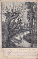 AK Vorfrühling Am Avre-Bach St. Mard - St. Aurin - Künstlerkarte Schamberger - Feldpost 1. WK (47767) - Roye