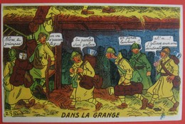 Illustrateur PETIET - Humour Militaria  - DANS LA GRANGE - Humor