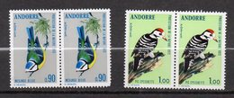 Andorre--1973--Oiseaux-- N°232-233 (Paires Horizontales) ---NEUFS --Gomme Intacte ......cote  10.80 €...........à Saisir - French Andorra