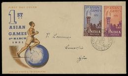 1951, Indien, 219-20, FDC - Inde
