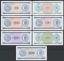 Kuba - Cuba 1,3,5,10,20,50,100 Peso 1985 Pick Bis FX25 UNC (1) Foreign Exchange Certificates - Banknoten