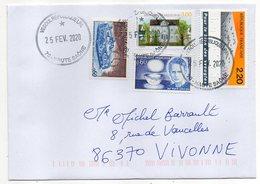 2020--Lettre De Vesoul --Jolie Composition De Timbres ...Beau Cachet Rond  Vesoul République LPA.......à Saisir - Marcophilie (Lettres)