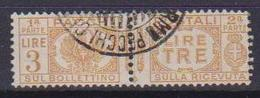 REGNO D'ITALIA 1927-32 PACCHI POSTALI VITTORIO EMANUELE III AQUILA SABAUDA SASS. 32 USATO VF - Pacchi Postali