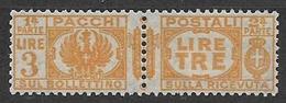 REGNO D'ITALIA 1927-32 PACCHI POSTALI VITTORIO EMANUELE III AQUILA SABAUDA SASS. 32 MLH VF - Postal Parcels