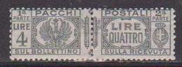 REGNO D'ITALIA 1927-32 PACCHI POSTALI VITTORIO EMANUELE III AQUILA SABAUDA SASS. 33 MLH VF - Postal Parcels