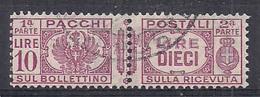 REGNO D'ITALIA 1927-32 PACCHI POSTALI VITTORIO EMANUELE III AQUILA SABAUDA SASS. 34 USATO VF - Postal Parcels