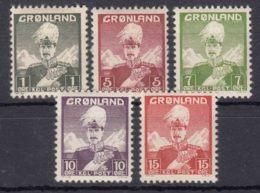 Greenland 1938 Mi#1-5 Mint Never Hinged - Nuevos