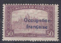 France Occupation Hungary Arad 1919 Yvert#14 Mint Hinged - Nuovi