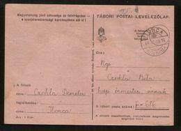 Hungary / KARPATHO UKRAINE Transcarpathia 1944 Postcard ILONCA Bilinqual Cancellation - Lettere