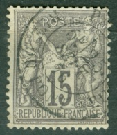 France  66  Ob  B/TB  Obli  Paris Rue Du Pont Neuf - 1876-1878 Sage (Typ I)
