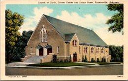 Arkansas Fayetteville Church Of Christ Curteich - Fayetteville