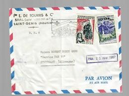 Air Mail Saint-Denis/Réunion To Stuttgart 1967 - Unclassified