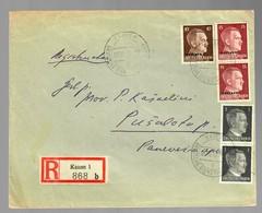Einschreiben Aus Kauen 1942, Deutsche Dienstpost Nach Rusalotas - Unclassified