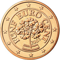 Autriche, 5 Euro Cent, 2003, FDC, Copper Plated Steel, KM:3084 - Autriche