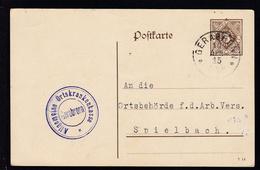 Ziffer 3 Pfg. Als Dienstpostkarte Der Allgemeinen Ortskrankenkasse Gerabronn - Wurtemberg