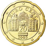 Autriche, 20 Euro Cent, 2003, FDC, Laiton, KM:3086 - Autriche