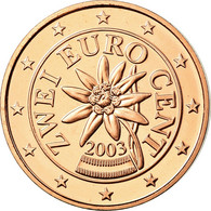 Autriche, 2 Euro Cent, 2003, FDC, Copper Plated Steel, KM:3083 - Autriche
