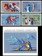 ** Poland - 1980 - Olympic Games 1980 - Mi. 2674-7, Bl. 81 - Estate 1980: Mosca