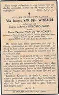 Austruweel, 1944, Felix Van Den Wyngaert, Goedstouwers, - Images Religieuses