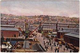 Wellington Hafen Und Werftanlagen New Zealand Neuseeland Postcard 1938 - Nuova Zelanda