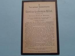 DP Carolus-Ludovicus RILLOF ( Sophia Borre ) Veurne 19 Oct 1834 - 6 Maart 1904 ( Zie Foto's ) ! - Todesanzeige