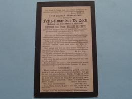 DP Felix-Amandus DE COCK ( De Busschere / De FRAYE ) Brugge 15 April 1848 - 16 Maart 1902 ( Zie Foto's ) ! - Todesanzeige