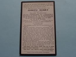 DP Joseph REBRY ( Theresia Vandevyvere ) Rumbeke 2 Feb 1827 - Emelghem 13 Feb 1910 ( Zie Foto's ) ! - Todesanzeige