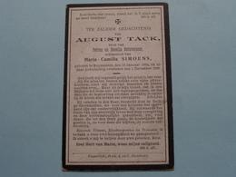 DP August TACK ( Zoon Van Detavernier En Echtg. Simoens ) Ruysselede 18 Jan 1854 - 1 Dec 1906 ( Zie Foto's ) ! - Todesanzeige