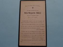 DP Reine-Marguerite WALL () Décédée Le 20 Avril 1918 Dans Sa 19eme Année ( Zie Foto's ) ! - Todesanzeige