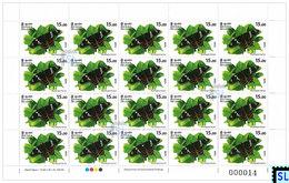 Sri Lanka Stamps 2020, Wild Species Threatened By Trade, Animals,Butterfly, Butterflies, Sheetlet - Sri Lanka (Ceylon) (1948-...)