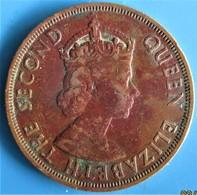 ÉTATS DE LA CARAÏBE ORIENTALE 2 Cents Elisabeth II, 1ère Effigie,  1961 - Caraibi Orientali (Stati Dei)