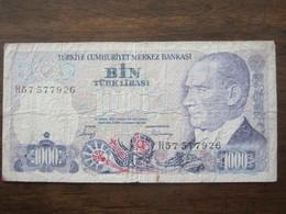 TURQUIE 1000 LIRASI  14/10/1970 - Turquia