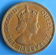 ÉTATS DE LA CARAÏBE ORIENTALE 2 Cents Elisabeth II, 1ère Effigie,  1965 - Caraibi Orientali (Stati Dei)
