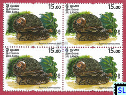 Sri Lanka Stamps 2020, Wild Species Threatened By Trade, Animals, Snails, Snail, MNH - Sri Lanka (Ceylon) (1948-...)