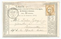 CERES 15C CARTE PRECURSEUR GC 4309 T 17 VIUZ ZN SALLAZ HAUTE SAVOIE INDICE 17 RARE - Marcophilie (Lettres)