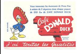 GF524 - BUVARD CAFES DONALD DUCK - Koffie En Thee