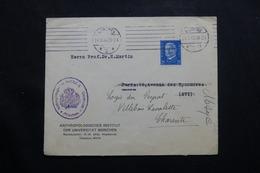 ALLEMAGNE- Enveloppe De L 'Institut Anthropologique De Mûnchen Pour La France En 1932  - L 54803 - Covers & Documents