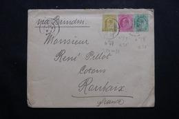INDE - Enveloppe Commerciale De Bombay Pour La France En 1907, Affranchissement Plaisant Tricolore - L 54808 - 1902-11 King Edward VII