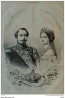 Napoléon Et Eugenie - Page Original 1858 - Historical Documents
