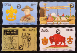 BADEN-POWELL 1991 - NEUFS ** - YT 754/57 - MI 902/05 - Uganda (1962-...)