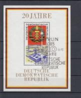 DDR Michel Kat.Nr. Block    Gest 28 SSt - DDR