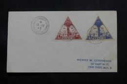 CÔTE DES SOMALIS - Enveloppe FDC En 1945 Pour New York - L 54833 - Côte Française Des Somalis (1894-1967)
