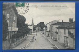 DOMMARTIN-le-St-PERE    Rue Principale    Animées   écrite En 1908 - Other Municipalities