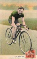 """S4184 Cpa Cyclisme - G. Poulain Sur Bicyclette """" La Française """" - Cyclisme"""