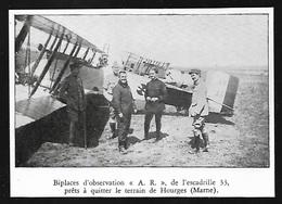 1938   --  AERODROME DE HOURGES BIPLACE D OBSERVATION ESCADRILLE 33 3S601 - Vieux Papiers