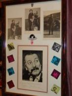 Autographes Brassens + 3 Photos Originales Dont  Une Dédicacée + Une Autre Dédicace  Encadrement Sous Verre Sans Reflet - Autres