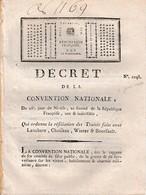 1794 - RÉSILIATION DES TRAITéS Faits Avec LENCHERE, CHOISEAU, WINTER & BOURSAULT Pour La Fourniture De Chevaux - Documentos Históricos