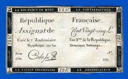 Assignat  De  125  Livres  Numero  239   1791 - Assignats & Mandats Territoriaux