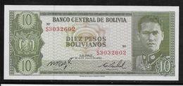 Bolivie -  10 Pesos - Pick N°154 - Neuf - Bolivia
